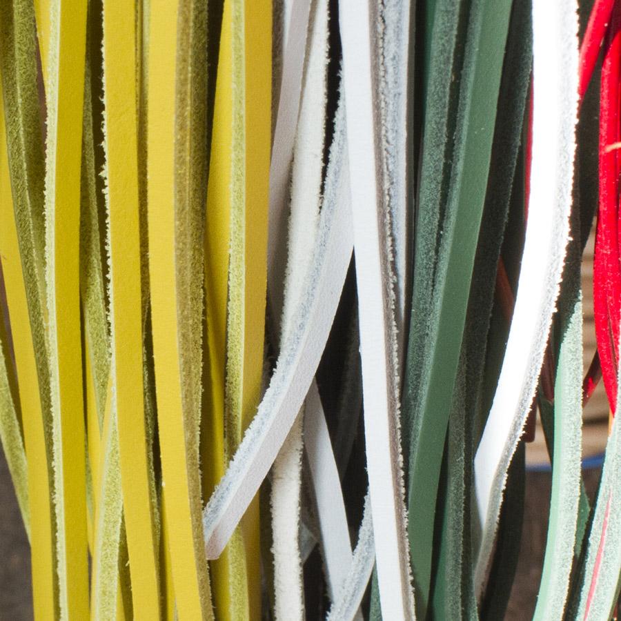 La Peausserie vend des lacets carrés en bobine ou au détail